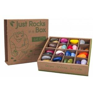 Crayon Rocks sojawaskrijtjes Crayon Rocks - Just Rocks box  - 2 x 32 kleuren