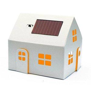 Litogami zonne-energie bouwpakketten Litogami bouwpakket huisje met zonnepaneel en lampje