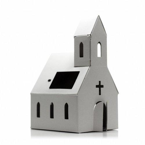 Litogami zonne-energie bouwpakketten Bouwpakket kerk met zonnepaneel