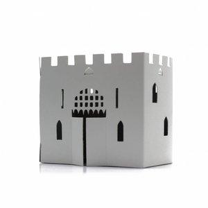 Litogami zonne-energie bouwpakketten Litogami bouwpakket kasteel met zonnepaneel en lampje