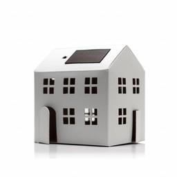 Litogami zonne-energie bouwpakketten Litogami bouwpakket appartement met zonnepaneel en lampje