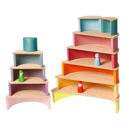 Grimms houten speelgoed Grote houten halve cirkels naturel
