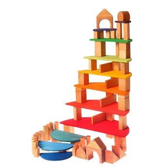 Grimms houten speelgoed Grote halve cirkels regenboog, voor het maken van een poppenhuis