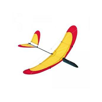 HQ vliegspeelgoed Zweefvliegtuig original air glider 40 van HQ in rood/geel
