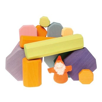 Grimms houten speelgoed Houten blokken in pastel kleuren om eindeloos mee te bouwen