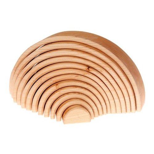 Grimms houten speelgoed Grimms  Houten boog naturel - 12 delig