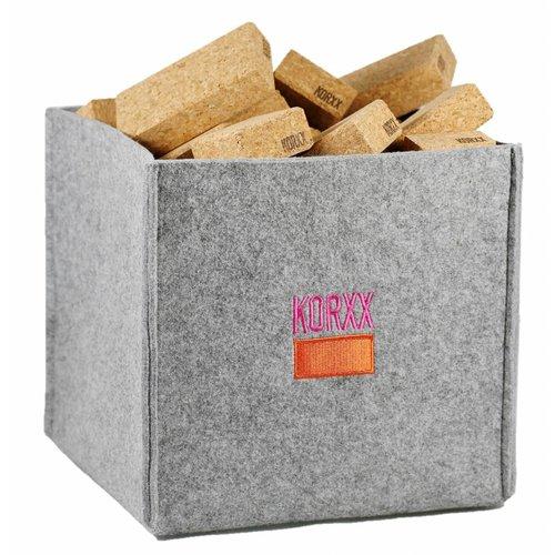 KORXX kurk blokken KORXX Cuboid M - 60 kurk blokken rechthoek met viltbox