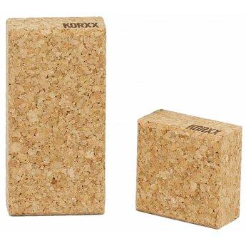 KORXX kurk blokken Cuboid M Filzbox - 60 kurk blokken met viltbox en katoenen zak