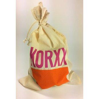 KORXX kurk blokken Form Starter - 21 bouwstenen met katoenen zak