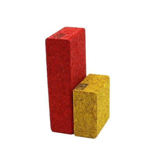 KORXX kurk blokken Cuboid C Mix - 19 gekleurde kurk bouwblokken