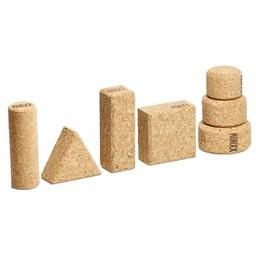 KORXX kurk blokken Form M Filzbox - 60 bouwblokken
