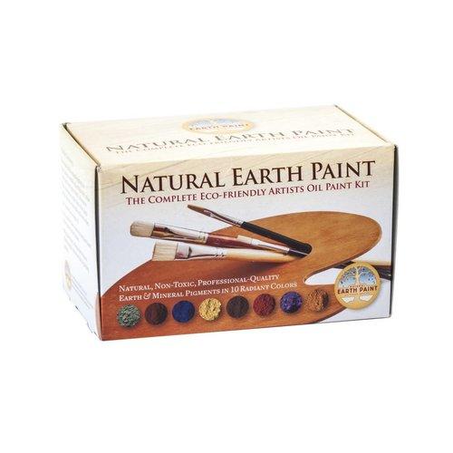 Natural Earth Paint natuurlijke kinderverf en kunstverf Complete ecologische olieverf startset inclusief 10 kleuren pigment
