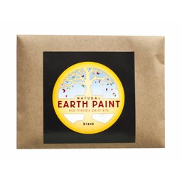 Natural Earth Paint natuurlijke kinderverf en kunstverf Children's Earth Paint per kleur - zwart