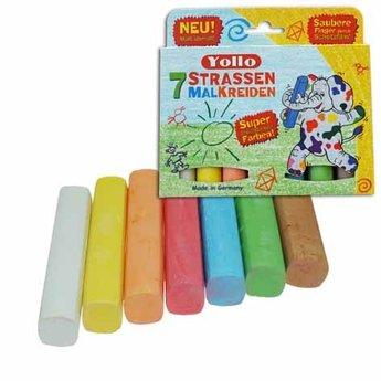 Kids at work kindergereedschap Stofvrij en eco stoepkrijt in mooie kleuren