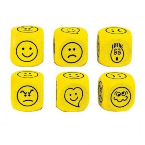 Koplow Games Dobbelsteen emoties in kleur geel