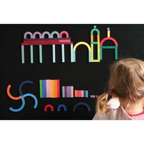 Grimms houten speelgoed Houten magneetpuzzel Alfabet