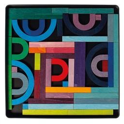 Grimms houten speelgoed Magneetpuzzel Alfabet