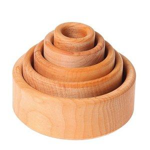 Grimms houten speelgoed Grimms Houten stapelbakjes naturel