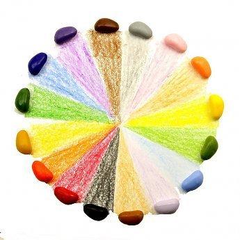 Crayon Rocks sojawaskrijtjes Rood fluwelen zakje met 16 ecologische krijtjes in zestien kleuren