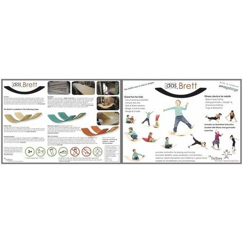 TicToys ecologisch beweegspeelgoed Das.Brett flexibele balansplank original Naturel