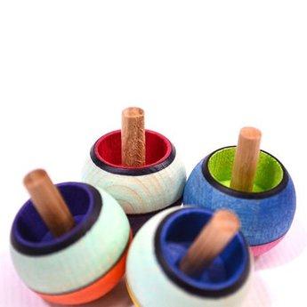 Mader houten tollen Mader Tol brede streep - confetti