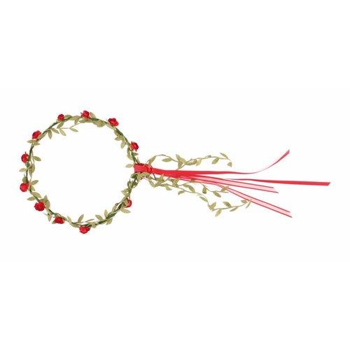 VAH - Spielzeugmanufaktur - kinderspeelgoed uit historische tijden VAH Bloemenkrans rode roosjes