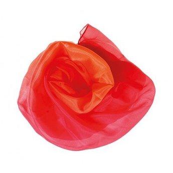 Sarah's Silk speelzijde Speelzijde in vurige roodtint