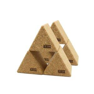 KORXX kurk blokken KORXX Big Triangles - 6 Grote kurk vormen driehoek