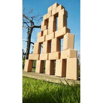 KORXX kurk blokken Big Blocks 28 stuks grote kurk bouwblokken