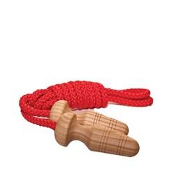 Mader houten tollen Springtouw met houten handvat