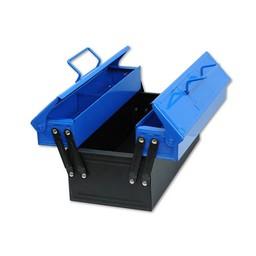 Kids at work kindergereedschap Stevige metalen kinder gereedschapskist kleur blauw