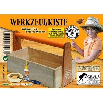 Kids at work Zelfbouw gereedschapskist van hout