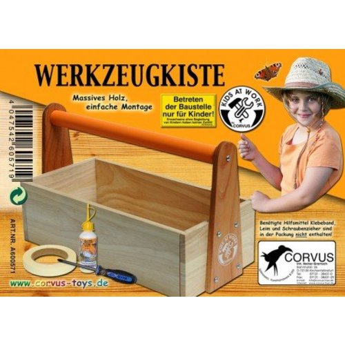 Kids at work kindergereedschap Zelfbouw gereedschapskist van hout