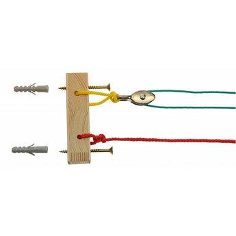 Kids at work Mini Kabel - overhevelen met touwen in het klein!