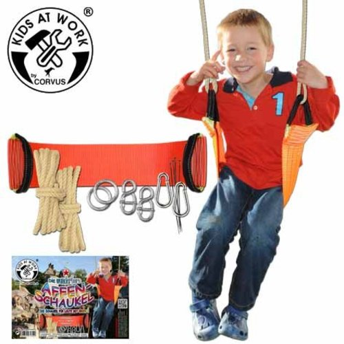 Kids at work kindergereedschap Apenschommel met toebehoren