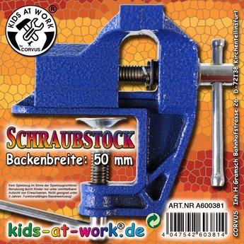 Kids at work kindergereedschap Bankschroef klein 50mm