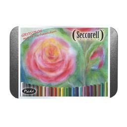 Seccorell tekenmateriaal Seccorell 24 kleuren metalen doos
