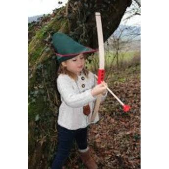 VAH - Spielzeugmanufaktur - kinderspeelgoed uit historische tijden Mini boog met rood handvat en pijlenrichter