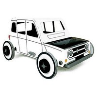 Litogami bouwpakket Autogami Renault 4L original met zonnepaneel