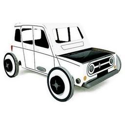 Litogami zonne-energie bouwpakketten Autogami Renault 4L original