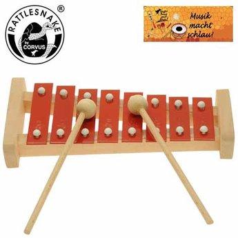 Rattlesnake muziekinstrumenten voor kinderen Xylofoon in C majeur in 8 hele tonen