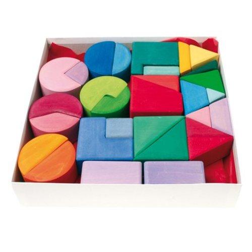 Grimms houten speelgoed Grimms Bouwset driehoek, vierkant en cirkel