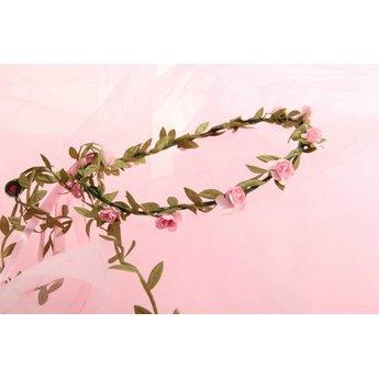 VAH - Spielzeugmanufaktur - kinderspeelgoed uit historische tijden Bloemenkrans roze roosjes
