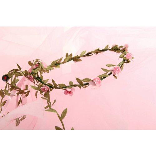 VAH - Spielzeugmanufaktur - kinderspeelgoed uit historische tijden Hoofdkrans bloemen roze roosjes
