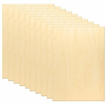 Kids at work kindergereedschap 10 x A4 verlijmde berkenhout platen voor figuurzagen