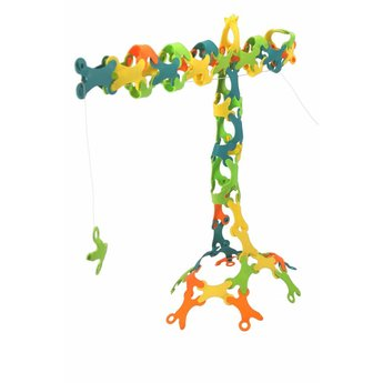 TicToys ecologisch beweegspeelgoed Binabo mix: 60 constructieschijfjes van bioplastic