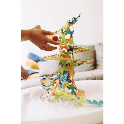 TicToys ecologisch beweegspeelgoed Binabo mix: 240 constructieschijfjes van bioplastic