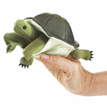 Folkmanis handpoppen en poppenkastpoppen Levensecht vingerpopje groene schildpad