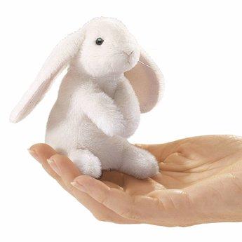 Folkmanis handpoppen en poppenkastpoppen Vingerpopje wit konijn hangoor