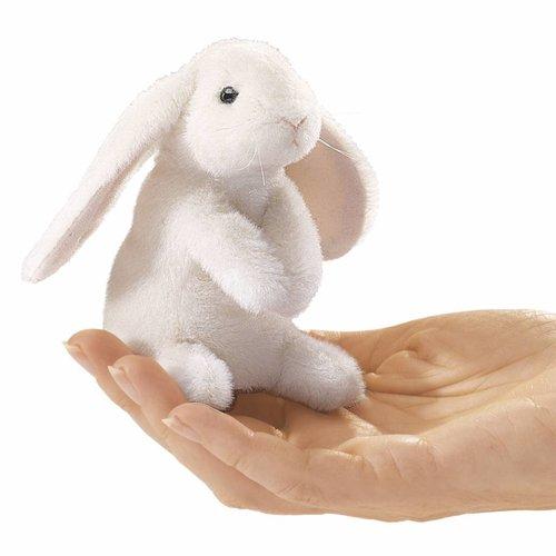 Folkmanis handpoppen en poppenkastpoppen Folkmanis vingerpopje konijn hangoor